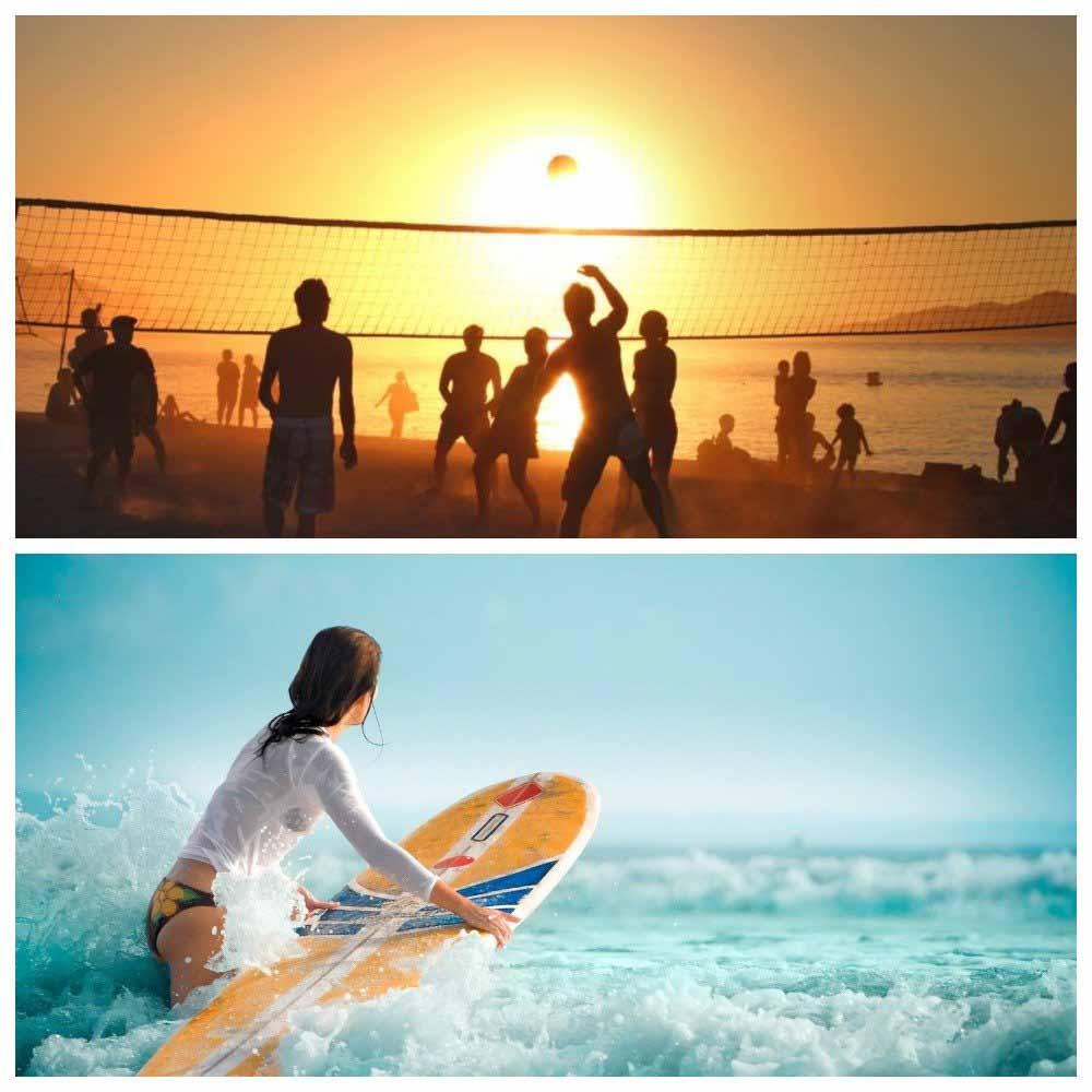 Пляжный волейбол и серфинг Бали за копейки