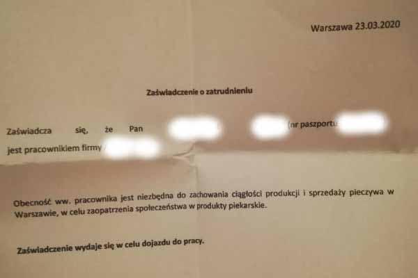 Это разрешение на работу моего мужа, полученное в конце марта