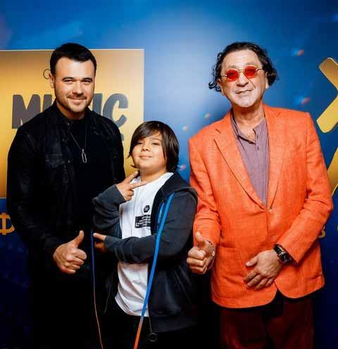 Эмин Агаларов с сыном и Григорий Лепс