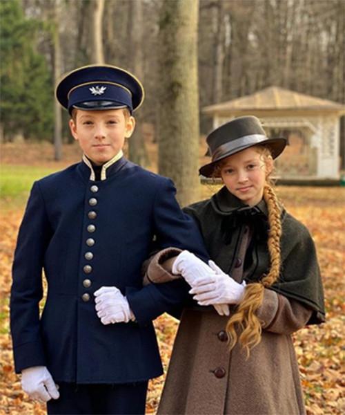 Дети актера на съемках сериала