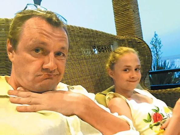 Шевельков с дочерью Александрой