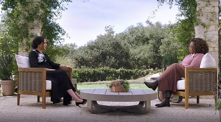 Жена принца дала интервью Опре