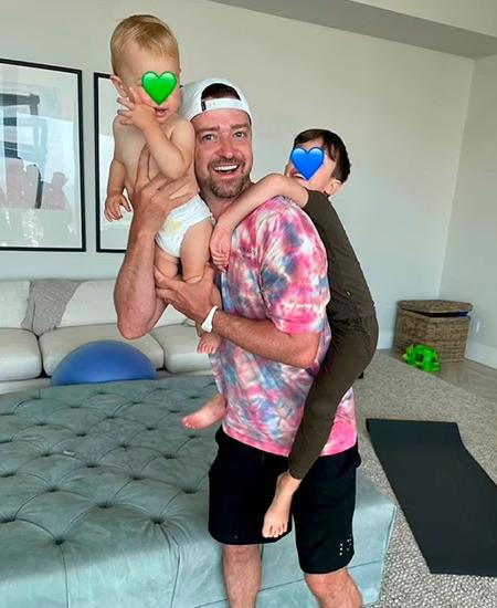 Джастин любит детей, но не показывает их широкой публике