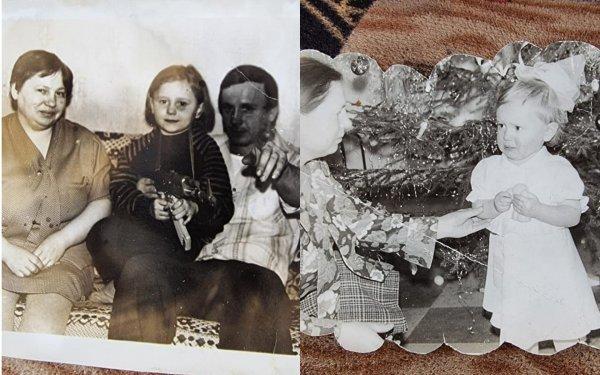 Ирина Костылева с мамой и папой в детстве