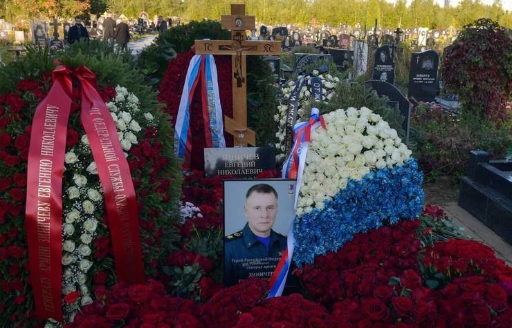 Похороны Евгения Зиничева прошли вчера в Санкт-Петербурге.